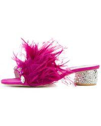 Jeffrey Campbell Zazu Feather/rhinestone Heels - Pink