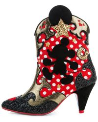 Irregular Choice Mickey Mouse & Friends Collection Hot Diggety Red Boot