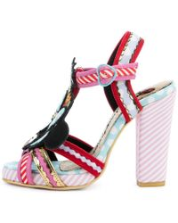 80c551fa042 Irregular Choice - Mickey Mouse   Friends Collection Tropical Minnie Pink  Heels - Lyst