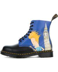 Dr. Martens | Unisex Beavis & Butt-head Pascal Black + Blue Boots | Lyst