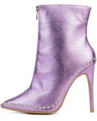 Legend Giselle Purple Heeled Booties