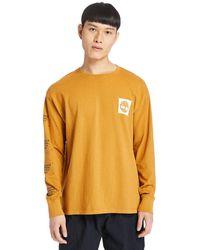 Timberland T-shirt À Manches Longues Teint - Orange