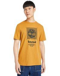 Timberland Herren-t-shirt - Orange