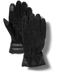 Timberland Touchscreen-handschuhe Aus Nubukleder - Schwarz