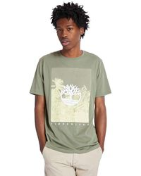 Timberland - T-shirt Con Grafica Frontale - Lyst
