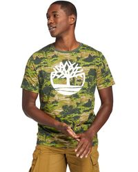 Timberland T-shirt Field Trip Tree - Verde