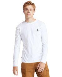 Timberland T-shirt Dunstan River À Manches Longues - Blanc