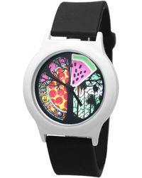 Time-Peace Presence 40mm Pizza Time - Black