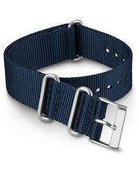 Timex Watch 20mm Fabric Slip-thru Double Layer Strap Blue