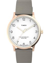 Timex Watch Waterbury Classic 36mm Leather Strap Rose Gold-tone/tan/white - Metallic