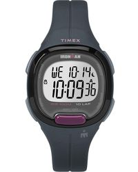 Timex - Watch Ironman Transit 33mm Mid-size Resin Strap Gray/digital - Lyst