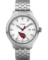Timex - Watch Top Brass Arizona Cardinals Stainless Steel/white - Lyst