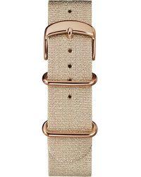 Timex Watch 20mm Metallic Woven Fabric Slip-thru Strap Pink - Multicolor