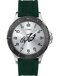 Timex - Watch Gamer Green Philadelphia Eagles Silver-tone/green/ - Lyst