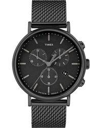 Timex Watch Fairfield Chronograph 41mm Mesh Band Black