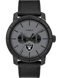 Timex - Watch Home Team Las Vegas Raiders Black/gray - Lyst