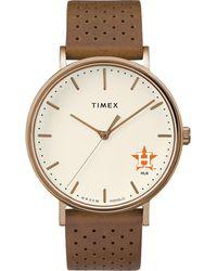 Timex - Watch Unisex Grace Houston Astros Chrome/tan/white - Lyst