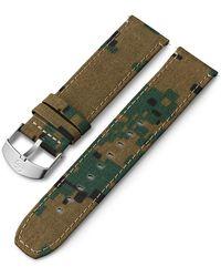 Timex Watch 22mm Fabric Strap Camo - Green