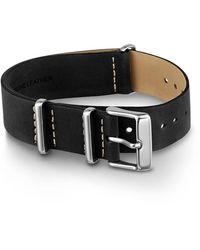 Timex Watch Unisex 20mm Leather Slip-thru Double Layer Strap Black