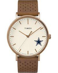 Timex - Watch Unisex Grace Dallas Cowboys Chrome/tan/white - Lyst