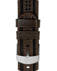 Timex Watch 18mm Fabric With Leather Strap Brown