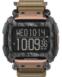 Timex Watch Command Shock 54mm Fabric Fast Wrap Black/digital