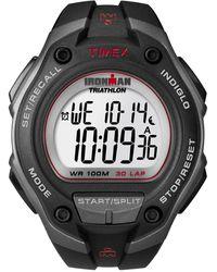 Timex Watch Ironman Classic 30 Oversized Resin Strap Gray/black/digital