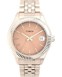 Timex Watch Waterbury Legacy 34mm Stainless Steel Bracelet Rose Gold-tone/rose Gold-tone - Metallic