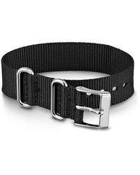 Timex Watch 16mm Fabric Slip-thru Single Layer Strap Black