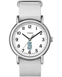 Timex - Watch Weekender Seattle Mariners Silver-tone/white - Lyst