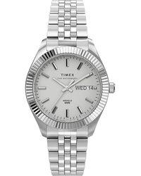 Timex Watch Waterbury Legacy Boyfriend 36mm Stainless Steel Bracelet Steel/white - Metallic