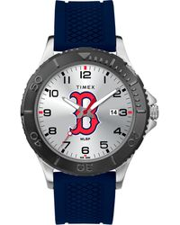 Timex Watch Gamer Navy Boston Red Sox Silver-tone/blue - Multicolor