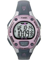 Timex Watch Ironman Classic 30 Mid-size Resin Strap Silver-tone/gray/digital - Metallic