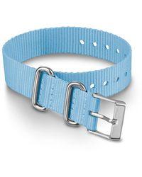 Timex Watch 16mm Fabric Slip-thru Single Layer Strap Blue