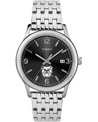 Timex Watch Sage Butler Bulldogs Silver-tone/stainless Steel/black - Metallic