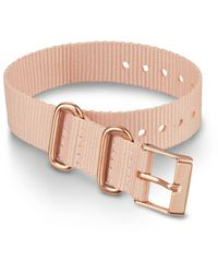 Timex Watch 16mm Fabric Slip-thru Single Layer Strap Pink