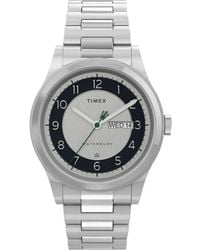 Timex Waterbury Traditional Day/date 39mm Stainless Steel Bracelet Watch Steel/silver-tone - Metallic
