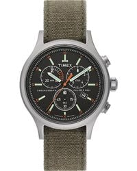 Timex Watch Allied Chronograph 42mm Stonewashed Fabric Strap N/a - Multicolor