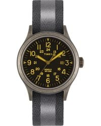 Timex Watch Allied 40mm Reflective And Reversible Fabric Strap N/a - Black