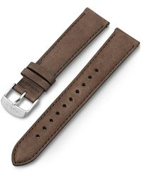 Timex Watch 20mm Quick Release Leather Strap Brown