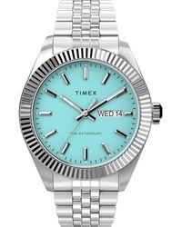 Timex Waterbury Legacy 41mm Stainless Steel Bracelet Watch Steel/blue - Multicolor