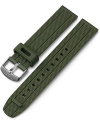 Timex Watch Unisex 20mm Fabric Strap With Leather Accents Tan - Green