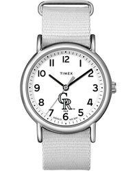 Timex - Watch Weekender Colorado Rockies Silver-tone/white - Lyst