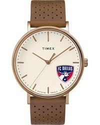 Timex - Watch Unisex Grace Fc Dallas Chrome/tan/white - Lyst