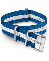 Timex Watch 18mm Fabric Slip-thru Double Layer Strap Blue