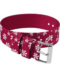 Timex Watch 20mm Fabric Slip-thru Single Layer Strap Pink