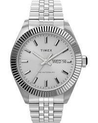 Timex Waterbury Legacy 41mm Stainless Steel Bracelet Watch Steel/silver-tone - Metallic