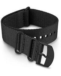 Timex Watch 22mm Fabric Slip-thru Double Layer Strap Black