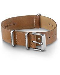 Timex 18mm Leather Slip-thru Double Layer Strap Unisex Watch Champagne - Brown