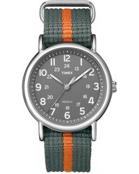 Timex Watch Unisex Weekender 38mm Nylon Strap Silver-tone/gray - Multicolor